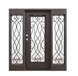 Iron Door - Palencia with Sidelights 74x81